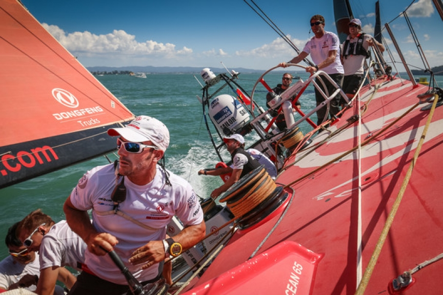 March 14, 2015. New Zealand Herald In-Port Race onboard Dongfeng Race Team